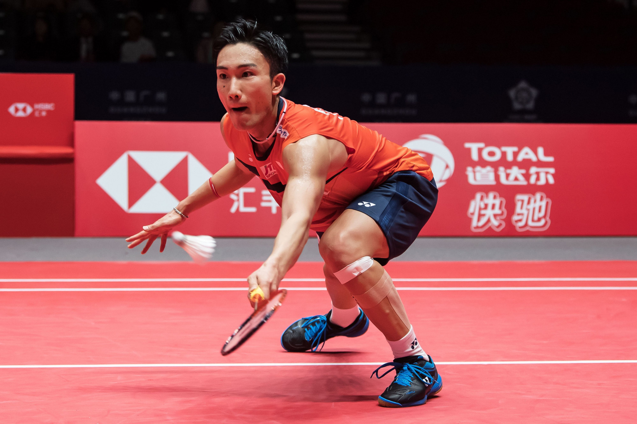 Kento Momota won in three games to boost his semi-final hopes ©Getty Images