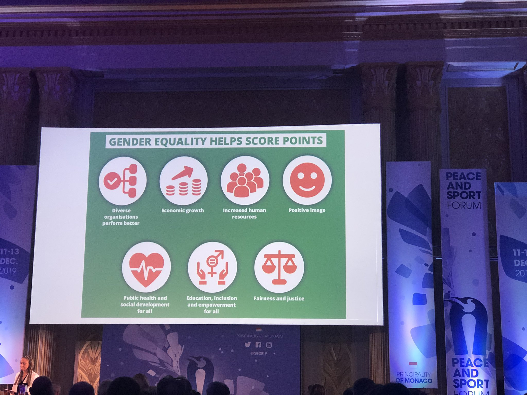 The need for gender quality in sport was the topic of another session ©Twitter