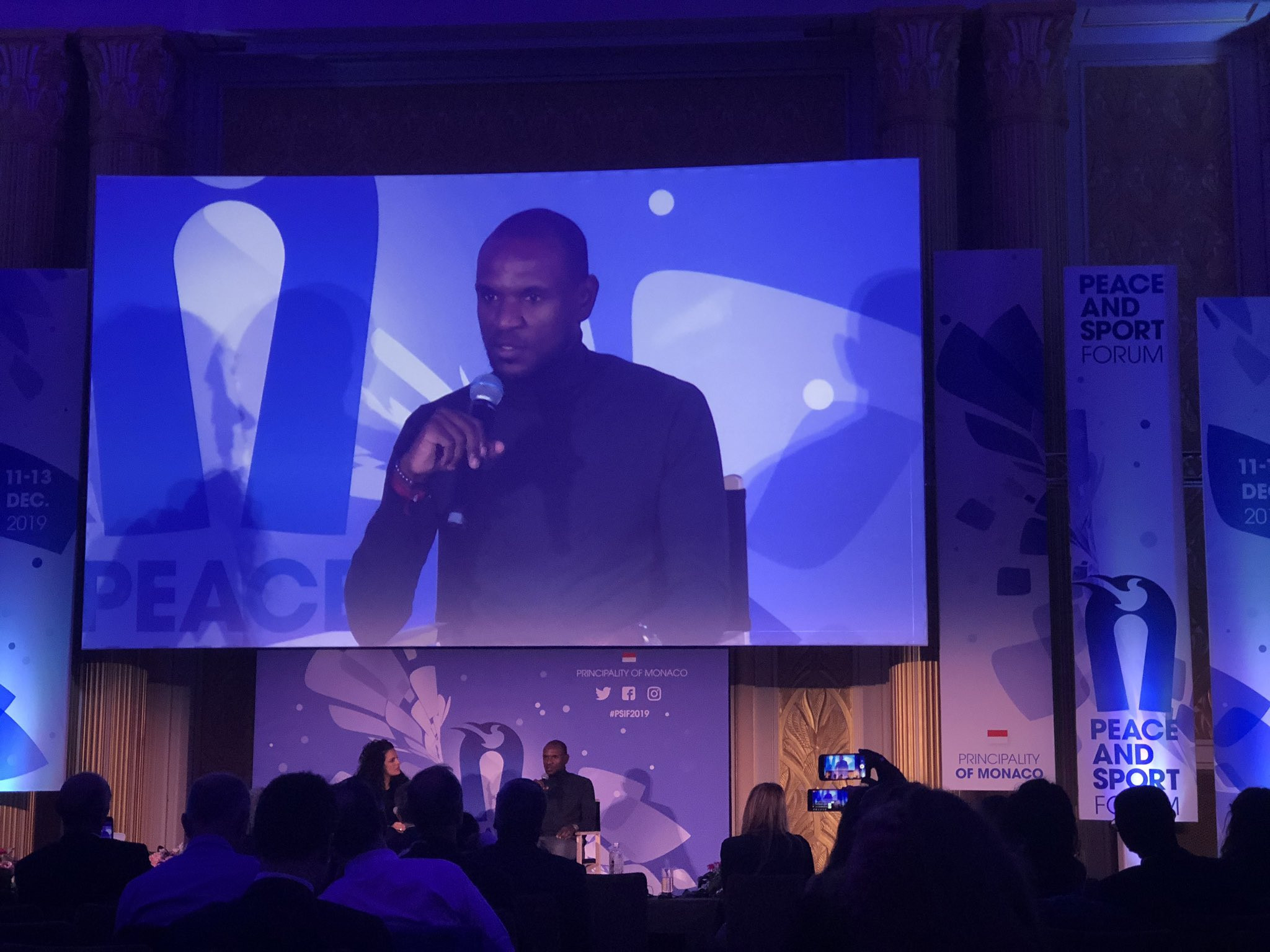 French former football Eric Abidal discussed the importance of philanthropy in sport, having worked extensively with the FC Barcelona Foundation ©ITG