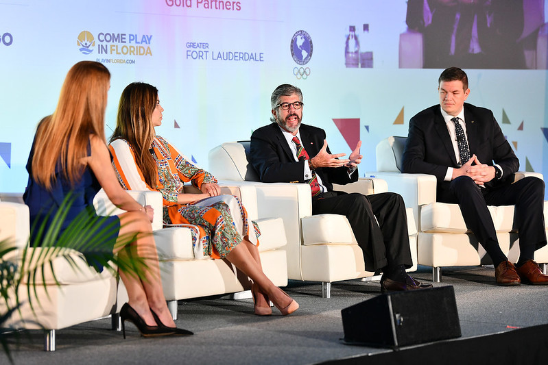Building relationships with athletes at a national level was discussed ©SportAccord