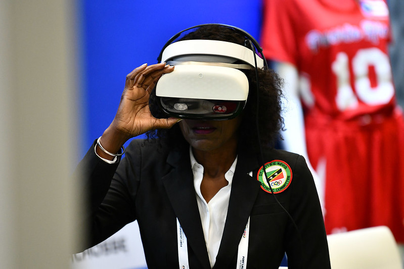 Delegates could also try virtual reality software ©SportAccord