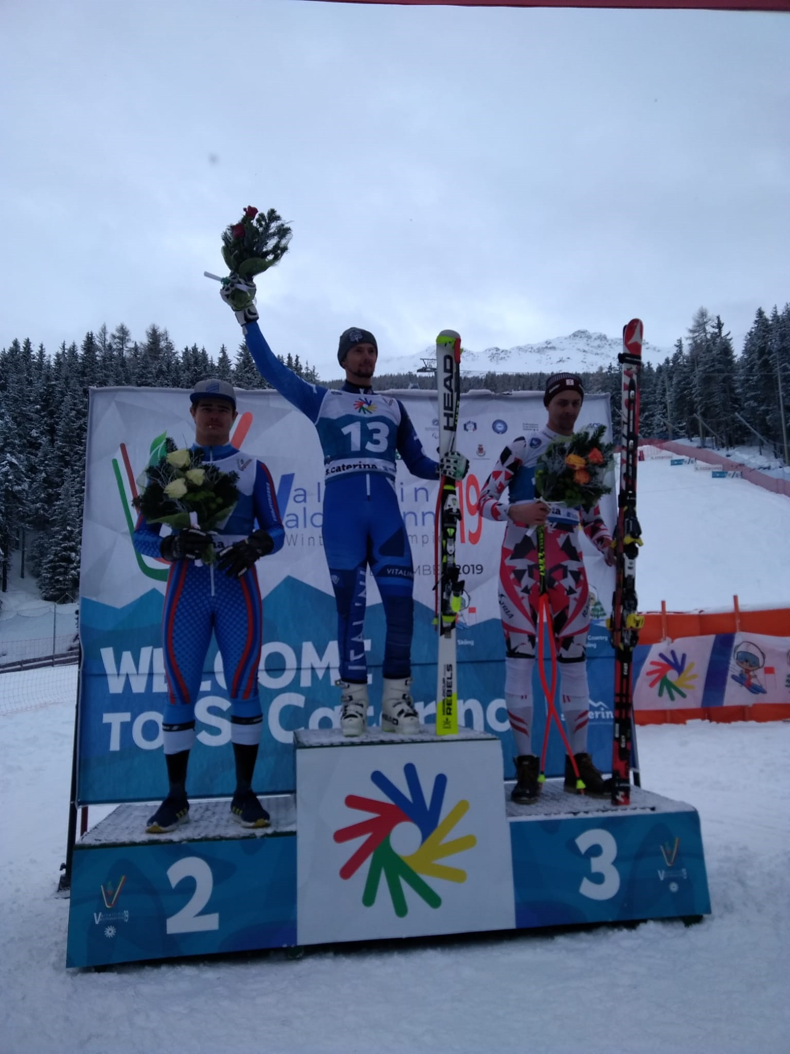Home favourite Pierbon claims men's downhill title at Winter Deaflympics