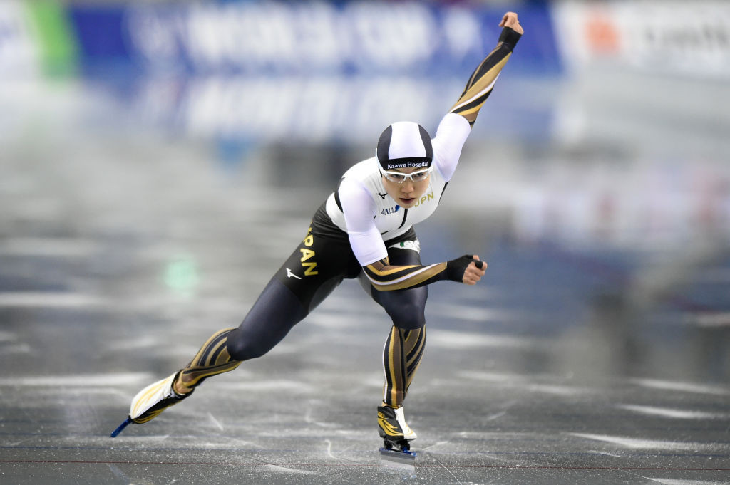 Japan's Nao Kodaira won the 500m title on the first day of the ISU Speed Skating World Cup in Nagano ©ISU
