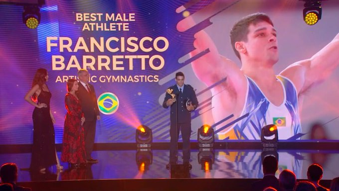 Brazil's Francisco Barretto was crowned best male athlete ©Twitter/COP_Peru