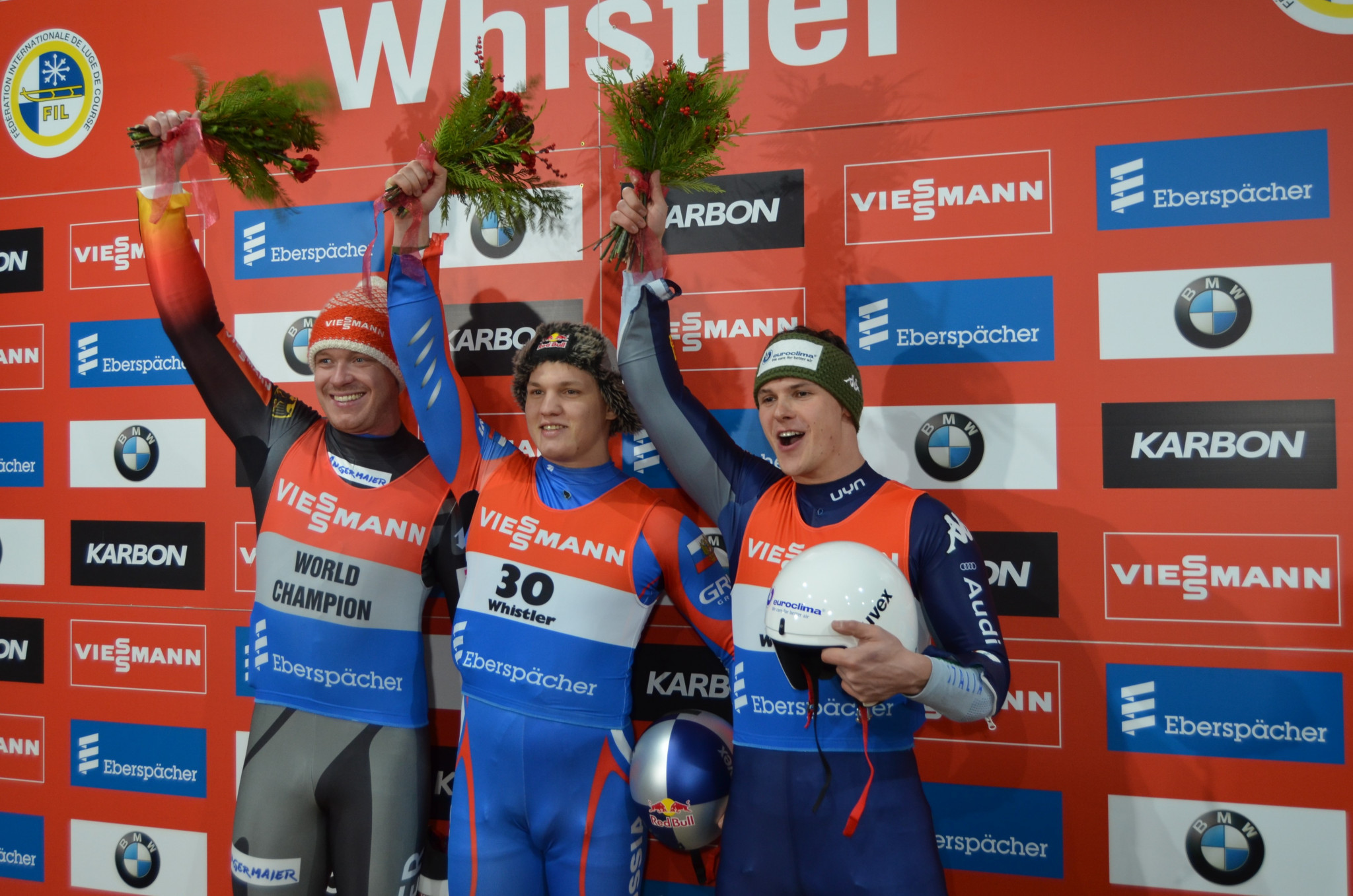 Russia dominate singles events at Luge World Cup in Whistler