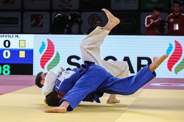 Lasha Bekauri of Georgia upset world number one Nikoloz Sherazadishvili of Spain in the under-90kg final ©IJF