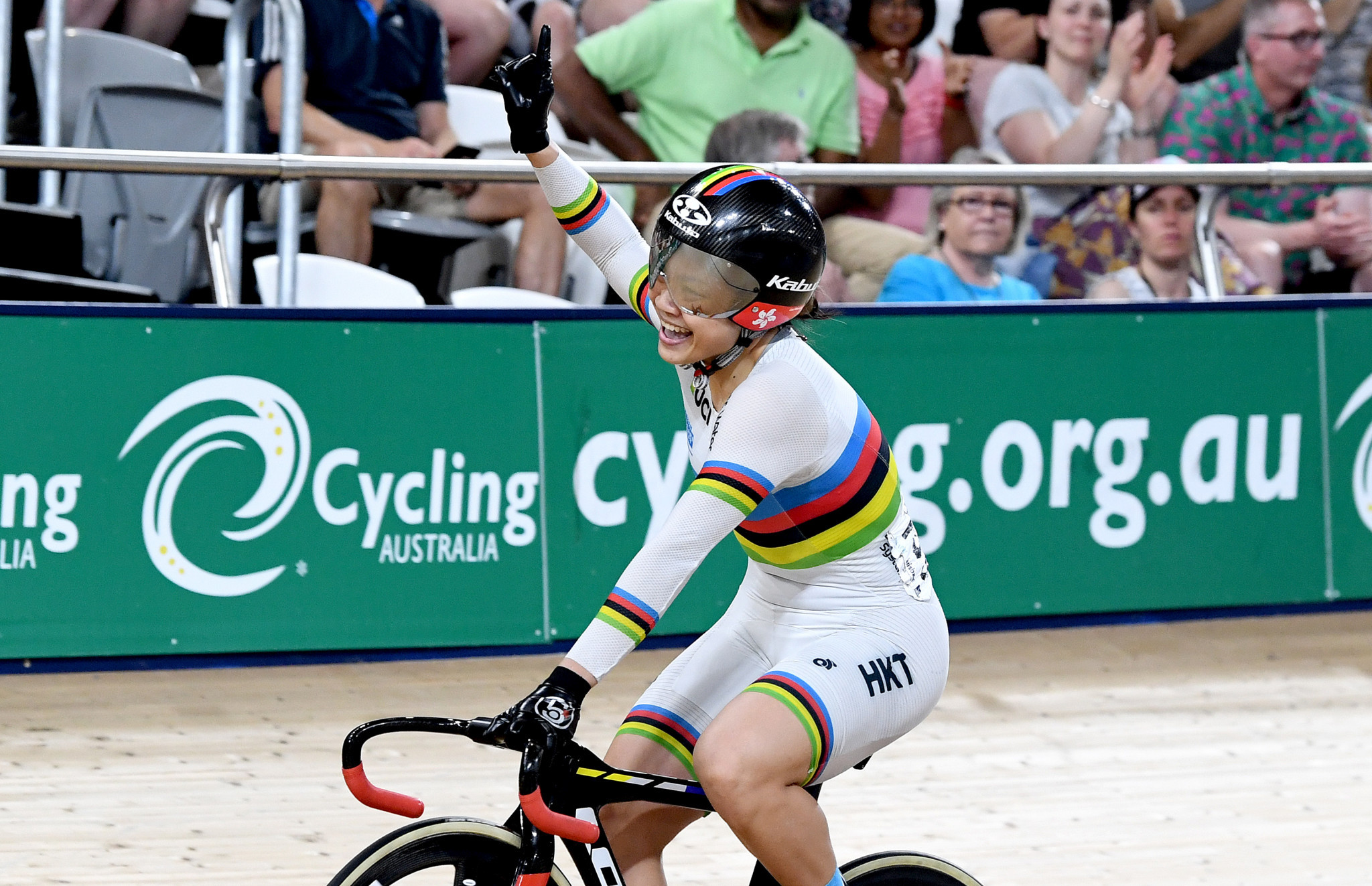Lee overcomes home favourite at UCI Track Cycling World Cup in Brisbane