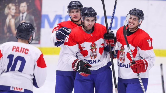 Serbia eased to a 7-0 win over Bulgaria in Group M ©IIHF