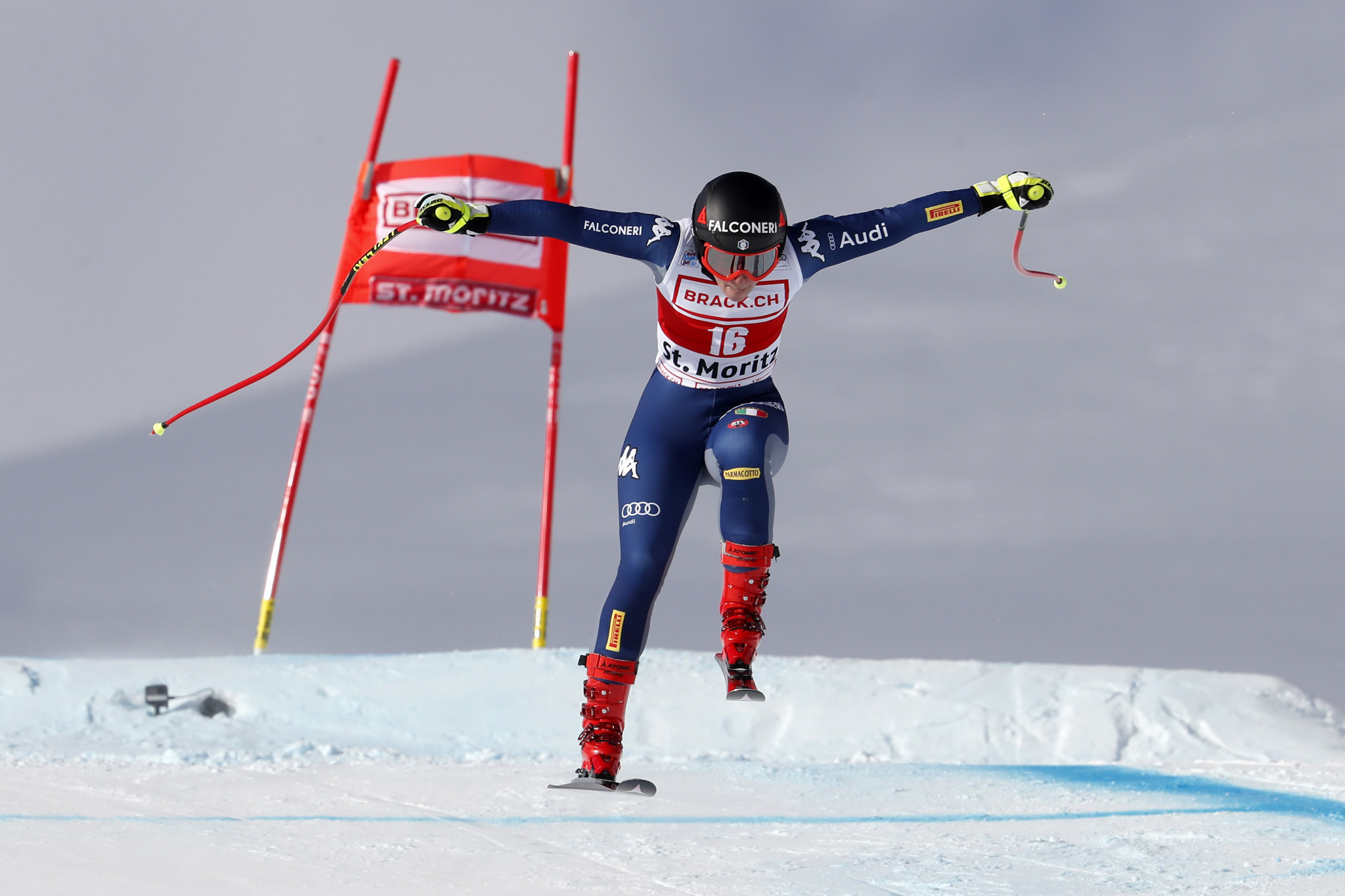 Goggia narrowly triumphs in Super-G event at FIS Alpine Skiing World Cup in St Moritz