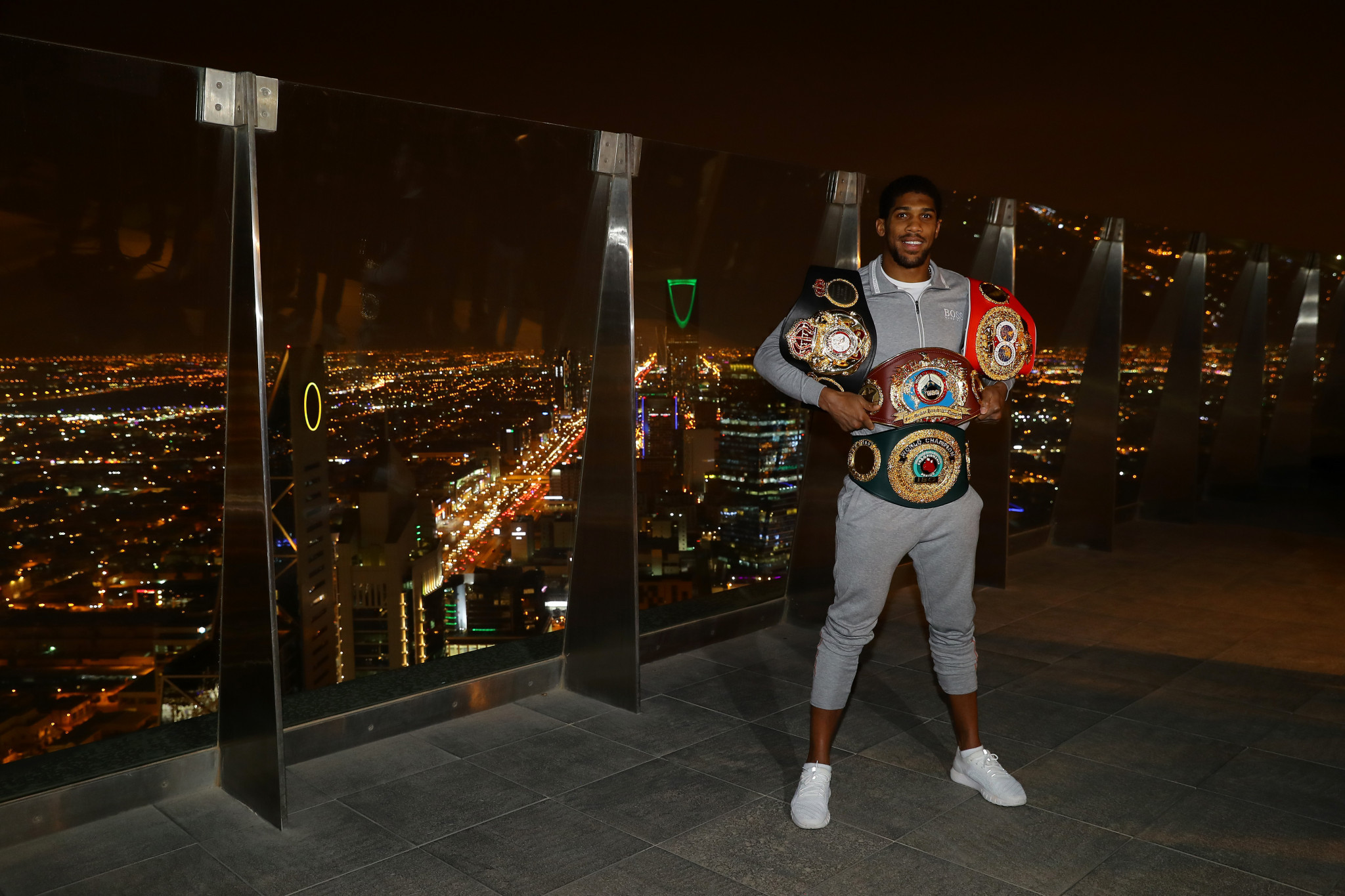 British boxer Anthony Joshua took part in a controversial fight in Saudi Arabia ©Getty Images