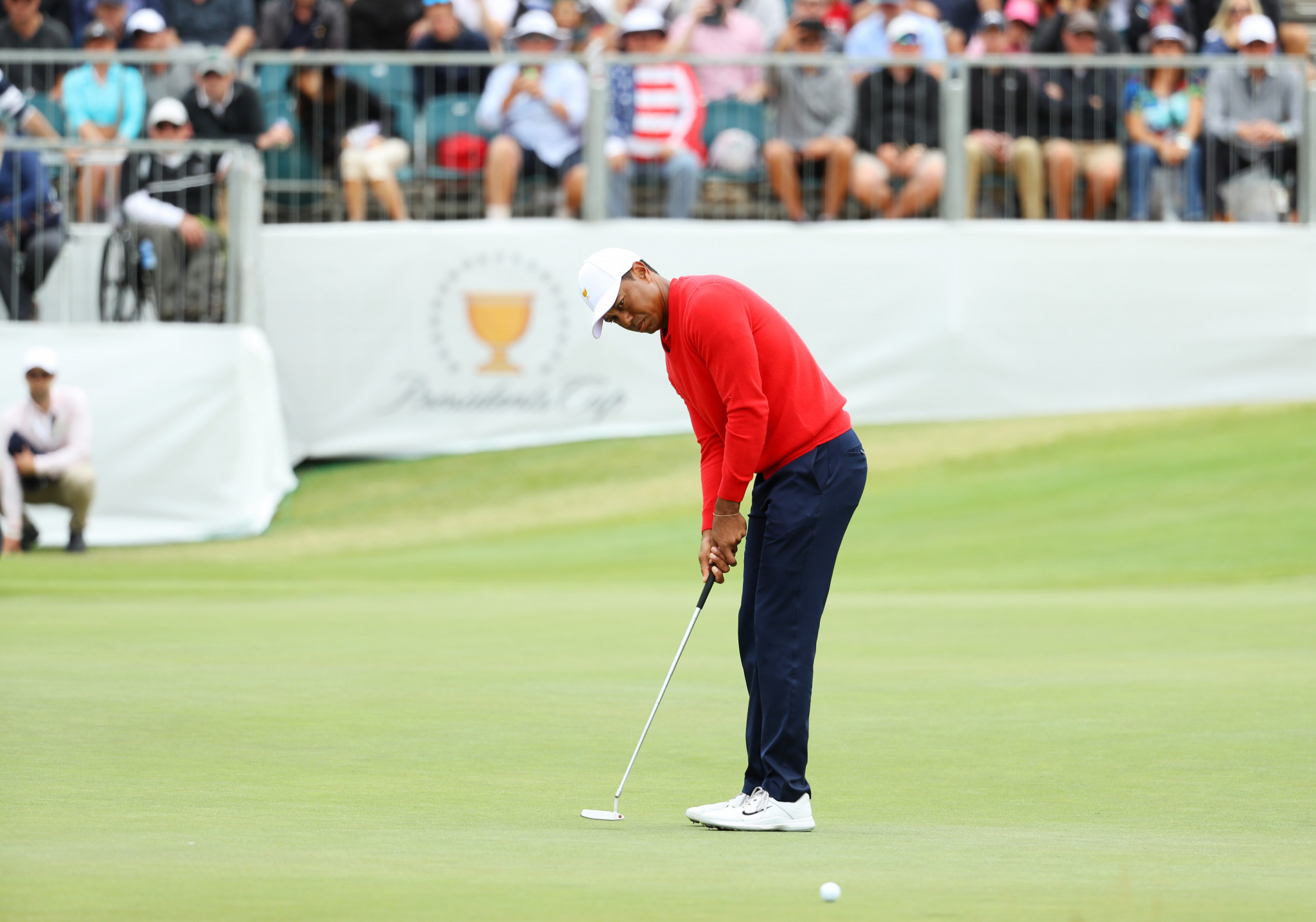 Tiger Woods won the opening singles match to set the US on their way to victory ©Getty Images