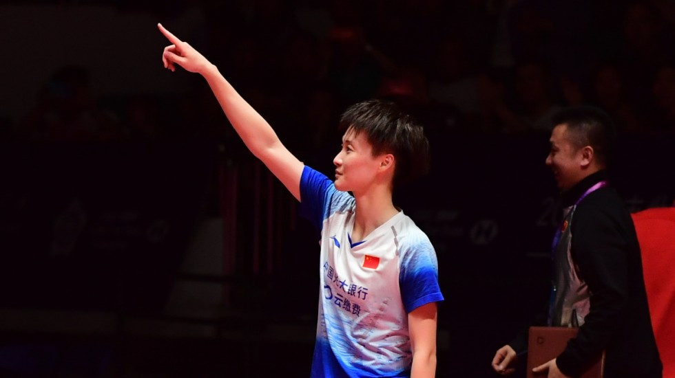 Home player Chen Yufei beat Chinese Taipei's world number one Tai Tzu Ying to win the women's title at the BWF World Tour Finals in Guangzhou, China ©BWF