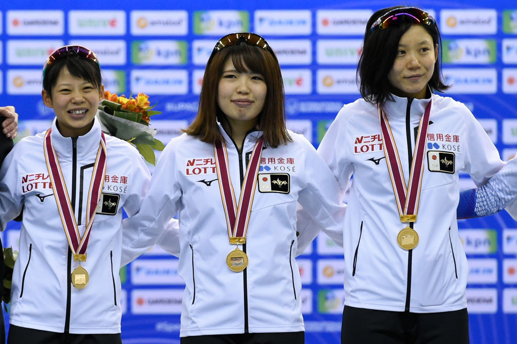 Japan's Olympic champions won the women's team pursuit gold in Nagano ©ISU