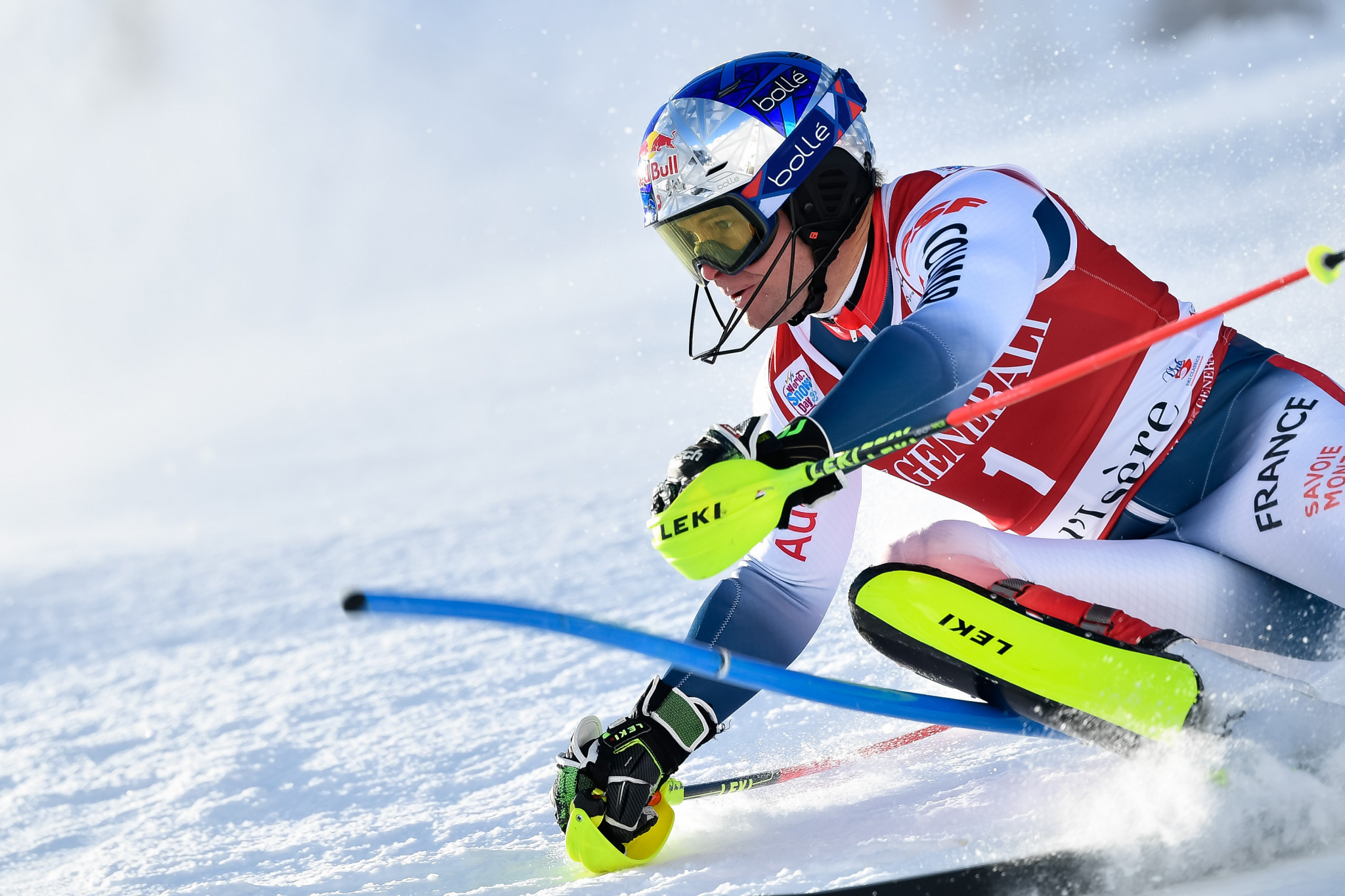 Pinturault delivers home victory in rescheduled slalom at FIS Alpine Skiing World Cup