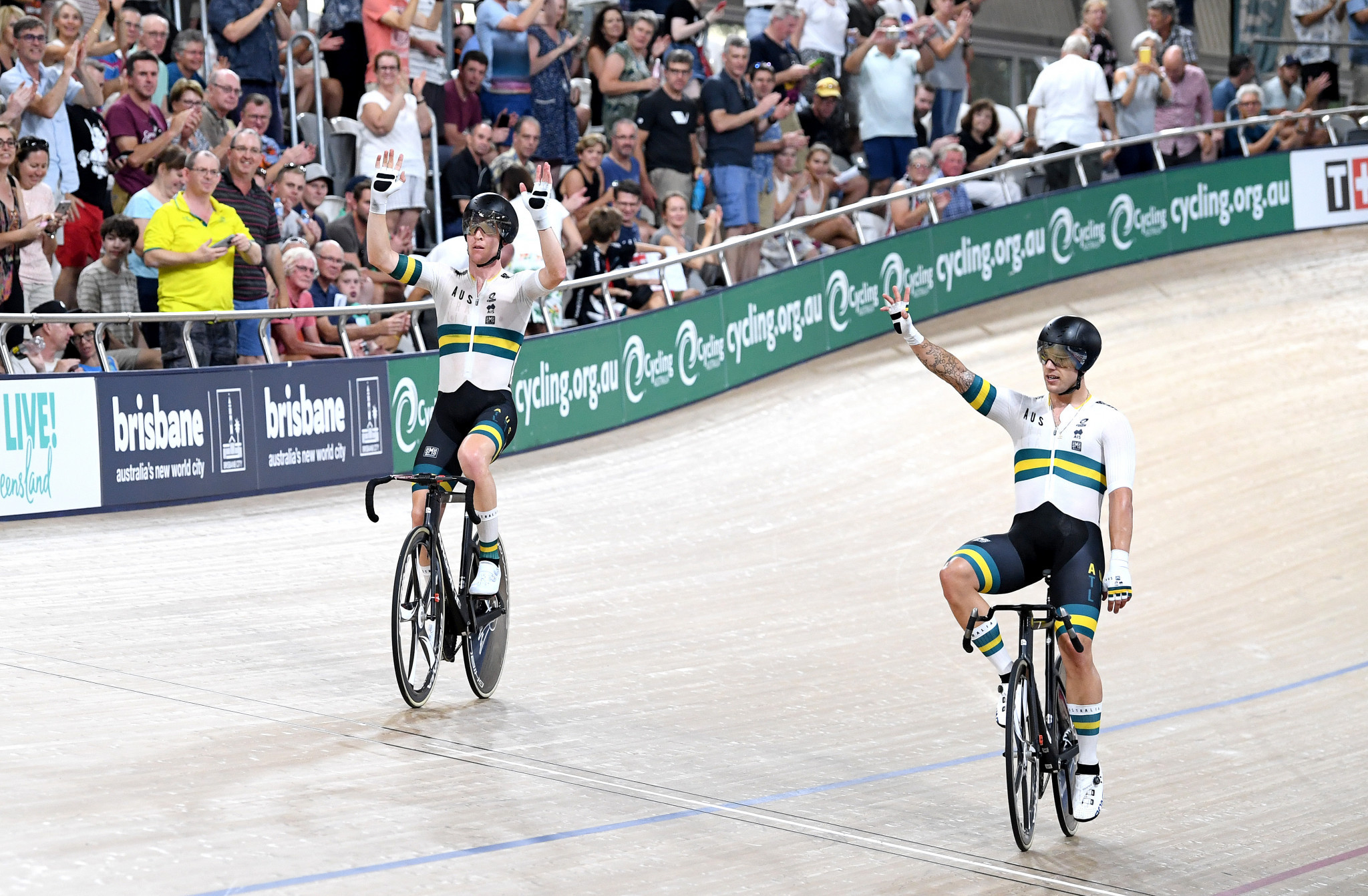 Cameron Meyer and Sam Welsford earned madison gold ©Getty Images