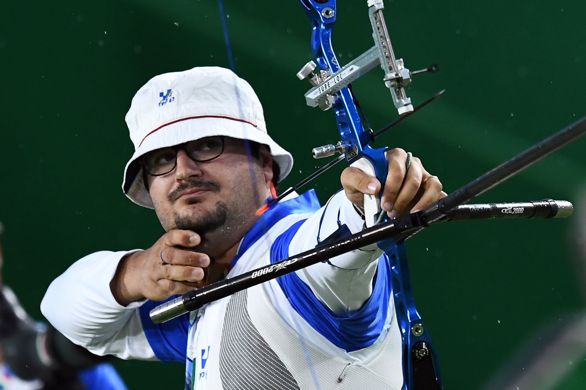 Marco Galiazzo of Italy won the men's recurve at the World Archery Indoor Series event in Rome ©Getty Images