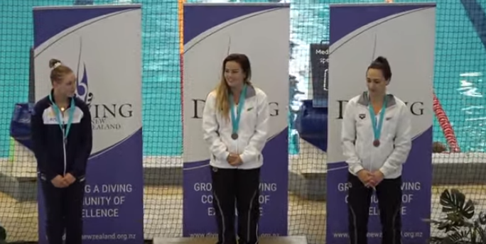 Elizabeth Cui of New Zealand topped the women's 3m podium at the Oceania Diving Championships ©YouTube