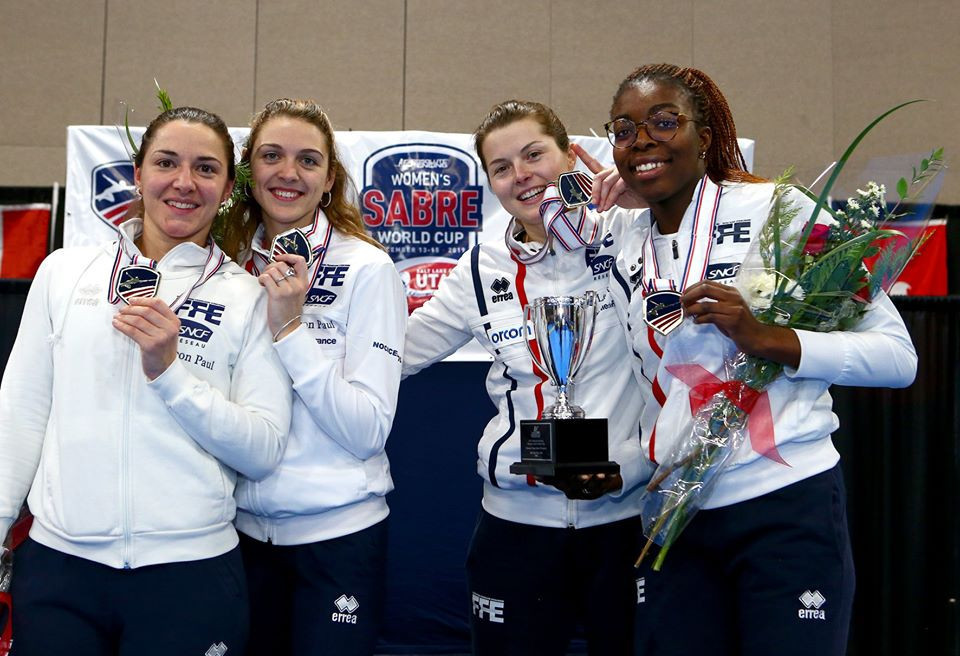 France beat Hungary to team event title at FIE Women's Sabre World Cup