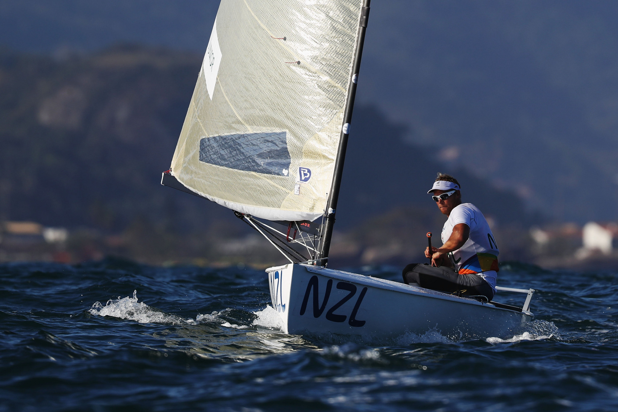 New Zealand's Josh Junior has taken a 14-point lead in the Finn Gold Cup overall standings ©Getty Images
