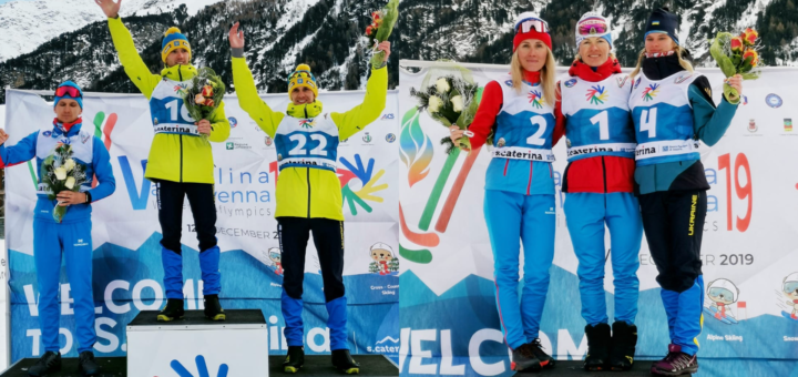 Medals were awarded today in cross-country skiing pursuit free technique events ©Deaflympics 2019