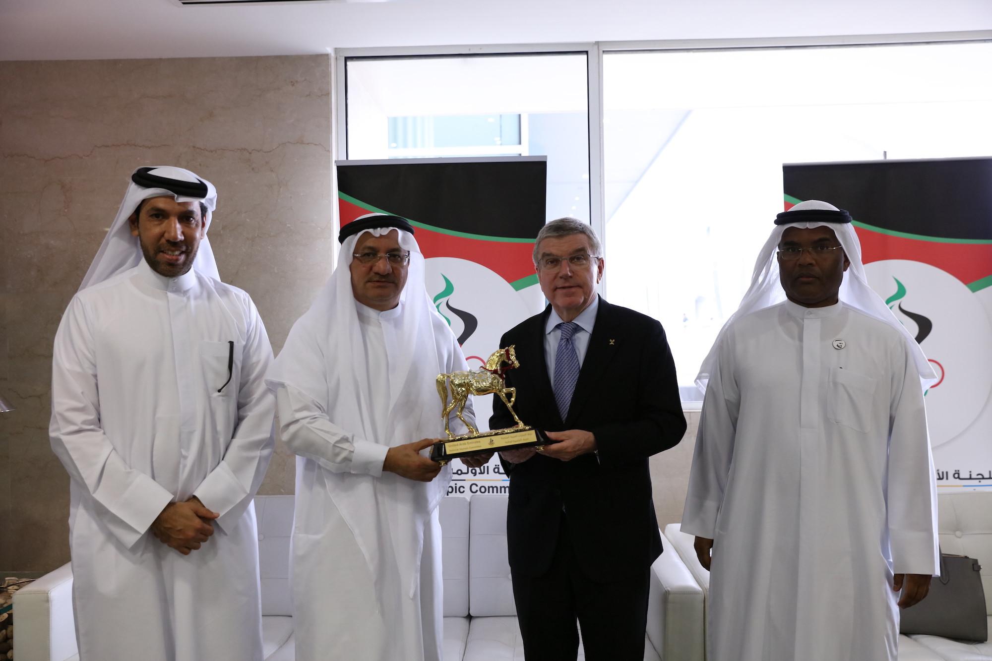 Bach praises hosting skills of United Arab Emirates