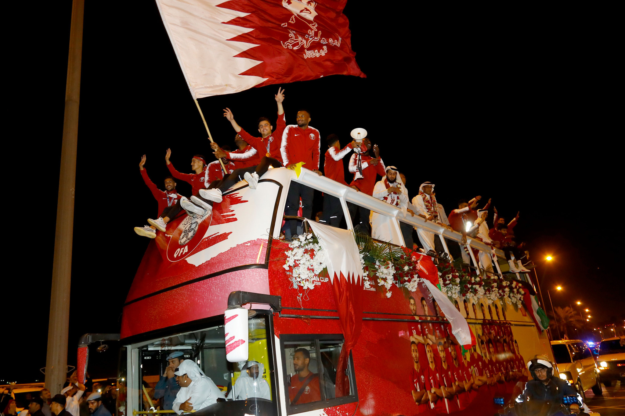 The Qatari football team celebrate their Asian Cup victory, illustrating how quickly fortunes can change ©Getty Images