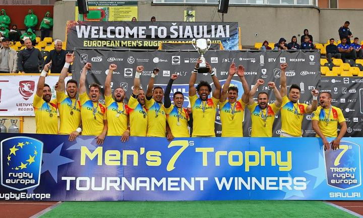 Stephen Hihetah had captained Romania to victory at the Rugby Europe Men's 7s Grand Prix in Lithuania in 2018 ©FFR
