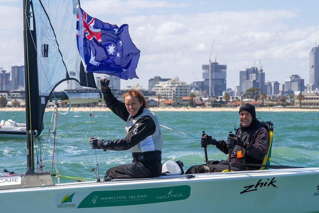 Dan Fitzgibbon and Liesl Tesch defended their SKUD18 title ©ISAF