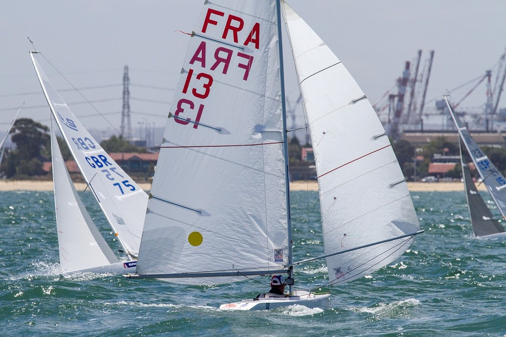 France's Damien Seguin holds a 10-point lead in the 2.4mR event ahead of the medal race