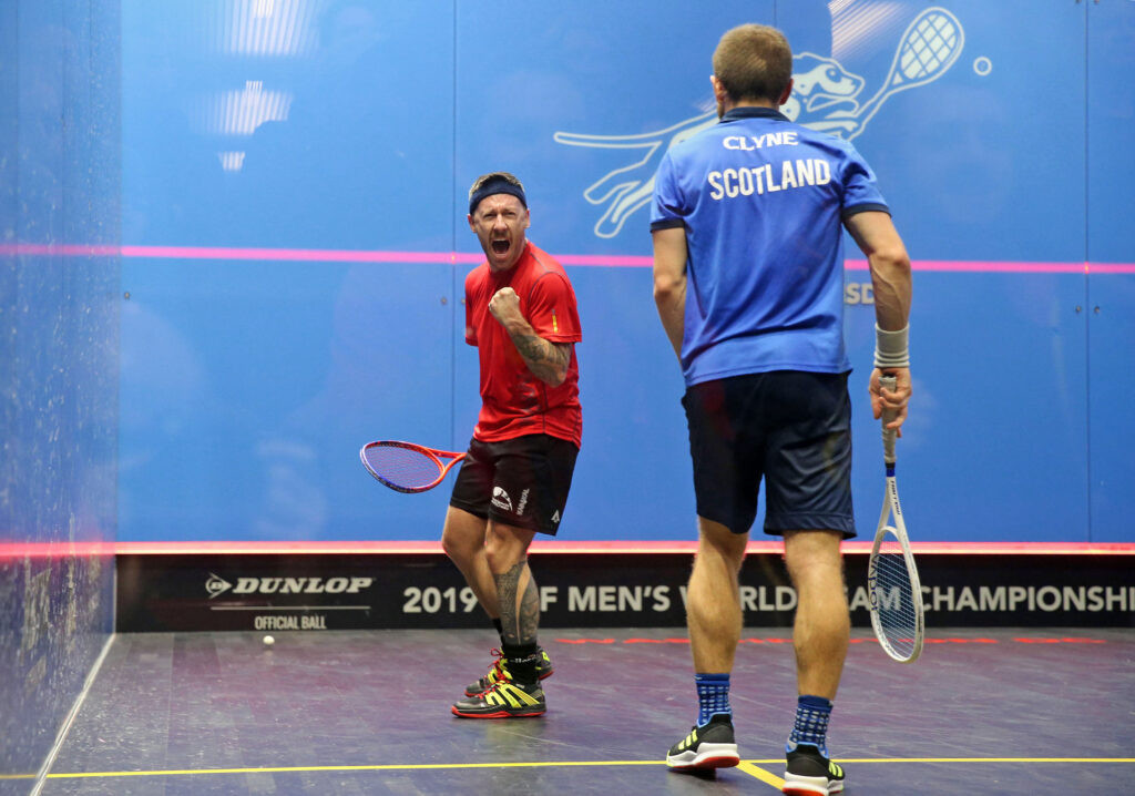 Wales beat Scotland in the quarter-finals of the Men's World Team Squash Championship in Washington, D.C. ©WSF