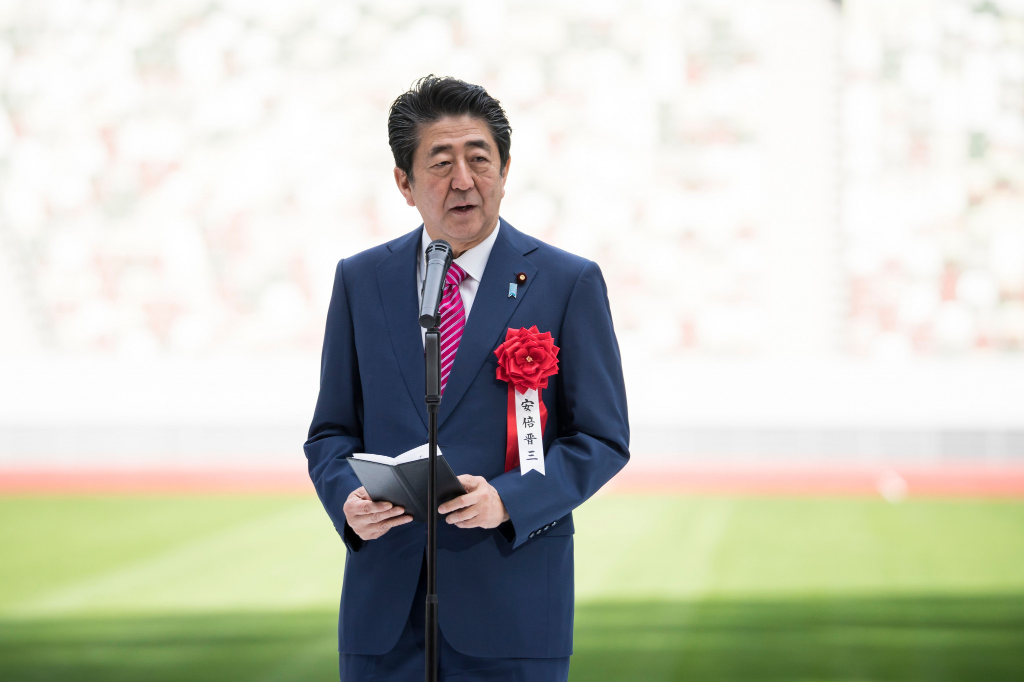 Japanese Prime Minster Shinzo Abe has once more reiterated the importance of the Olympic Truce ©Getty Images
