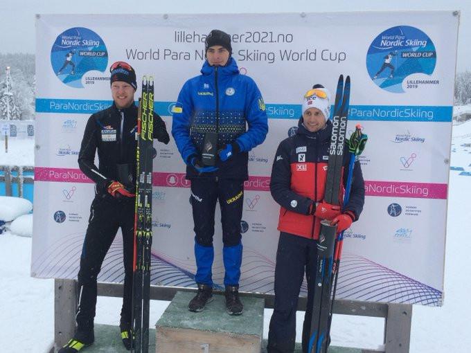Ihor Reptyukh of Ukraine took gold in the men's standing sprint, with Mark Arendz of Canada receiving silver and Nils-Erik Ulset of Norway bronze ©Para Snow Sports