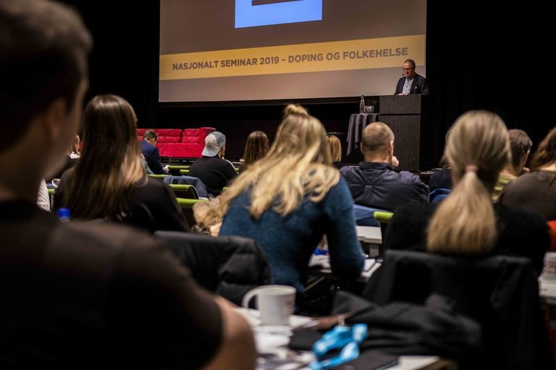 More than 300 people attended the anti-doping seminar ©ADNO