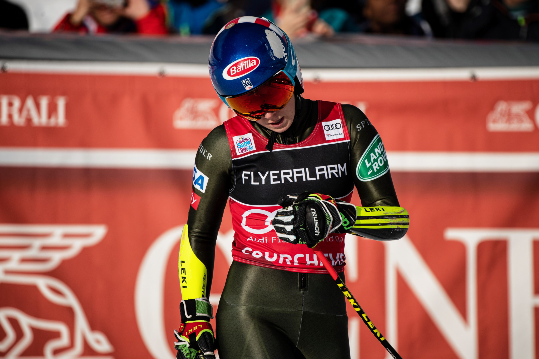 Mikaela Shiffrin finished 17th place in the giant slalom at the FIS Alpine Ski World Cup event in Courchevel ©Getty Images