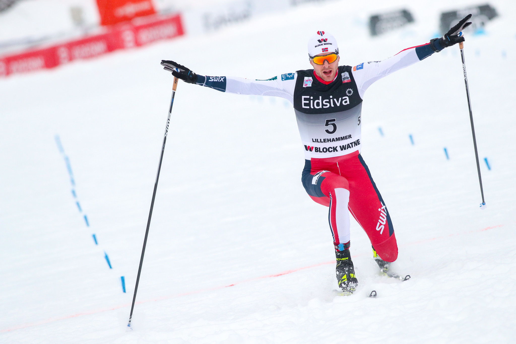 Jørgen Graabak will be trying to overcome fellow Norwegian Jarl Magnus Riiber at the FIS Nordic Combined World Cup event in Ramsau am Dachstein ©Getty Images