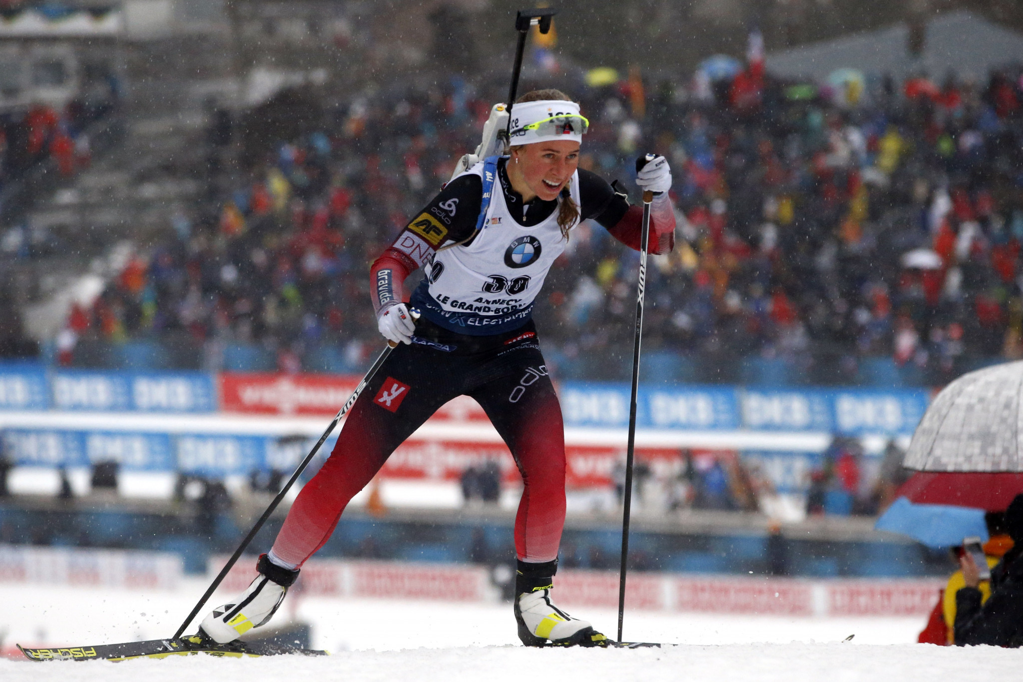 Former world champion Eckhoff wins sprint event at IBU World Cup