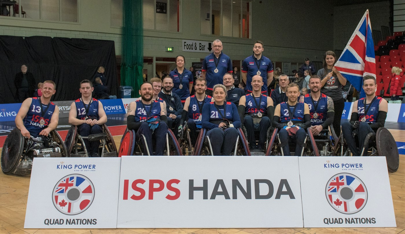 The Wheelchair Rugby Quad Nations at Leicester next February will be an important part of Britain's build up for the Paralympic Games in Tokyo ©King Power