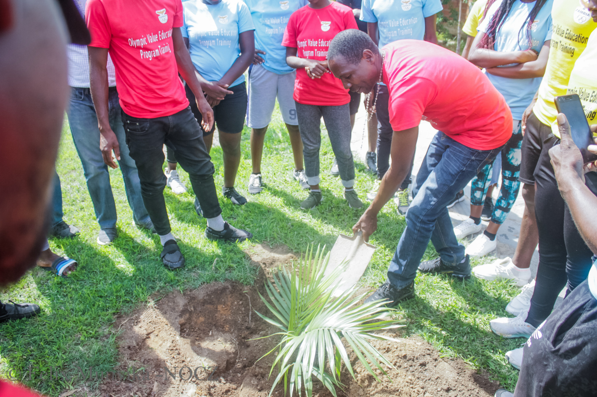 A tree-planting campaign was launched during one of the NOCZ sessions ©NOCZ