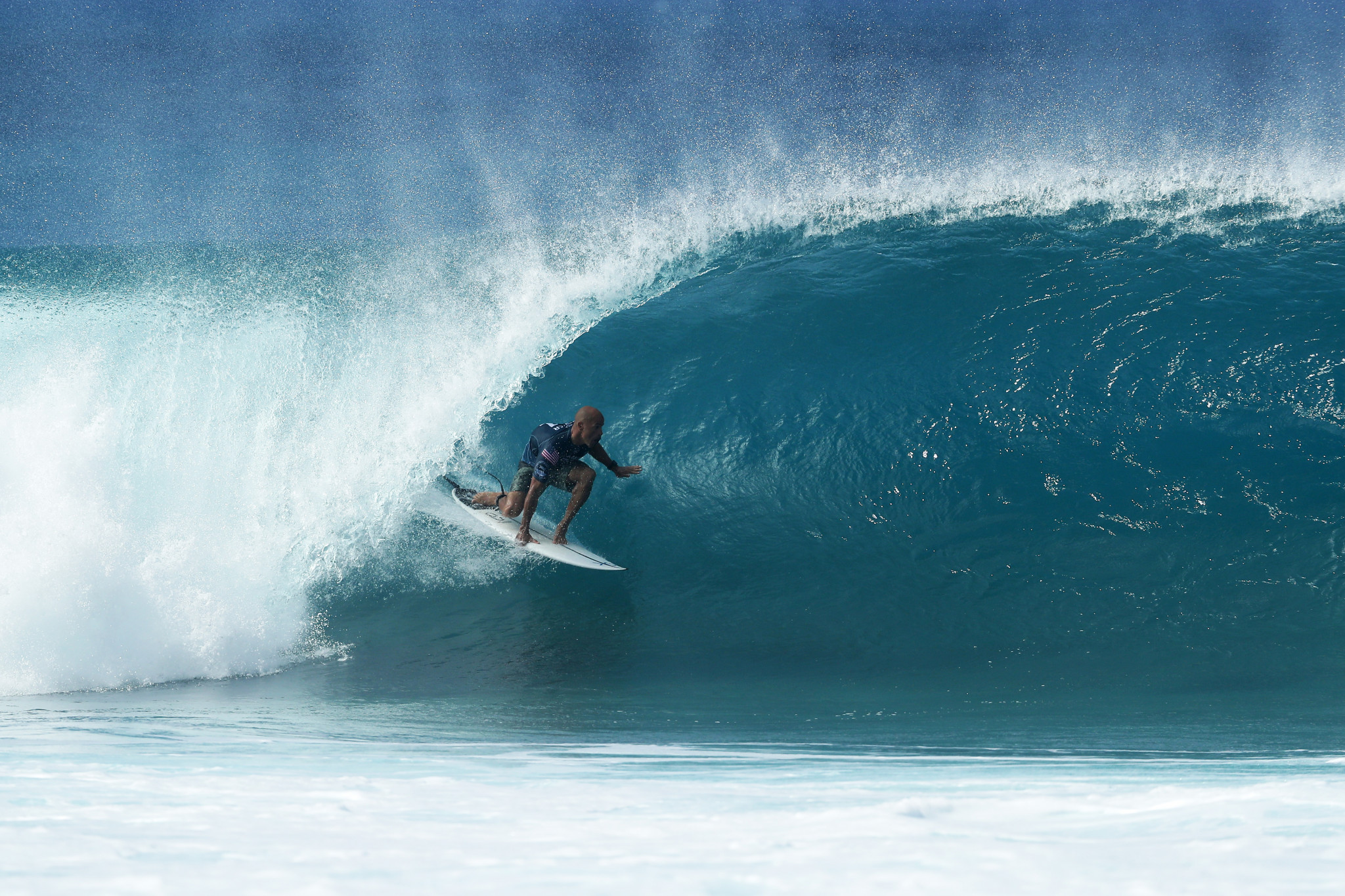 Kelly Slater's hopes of Olympic qualification came to an end in Hawaii ©Getty Images