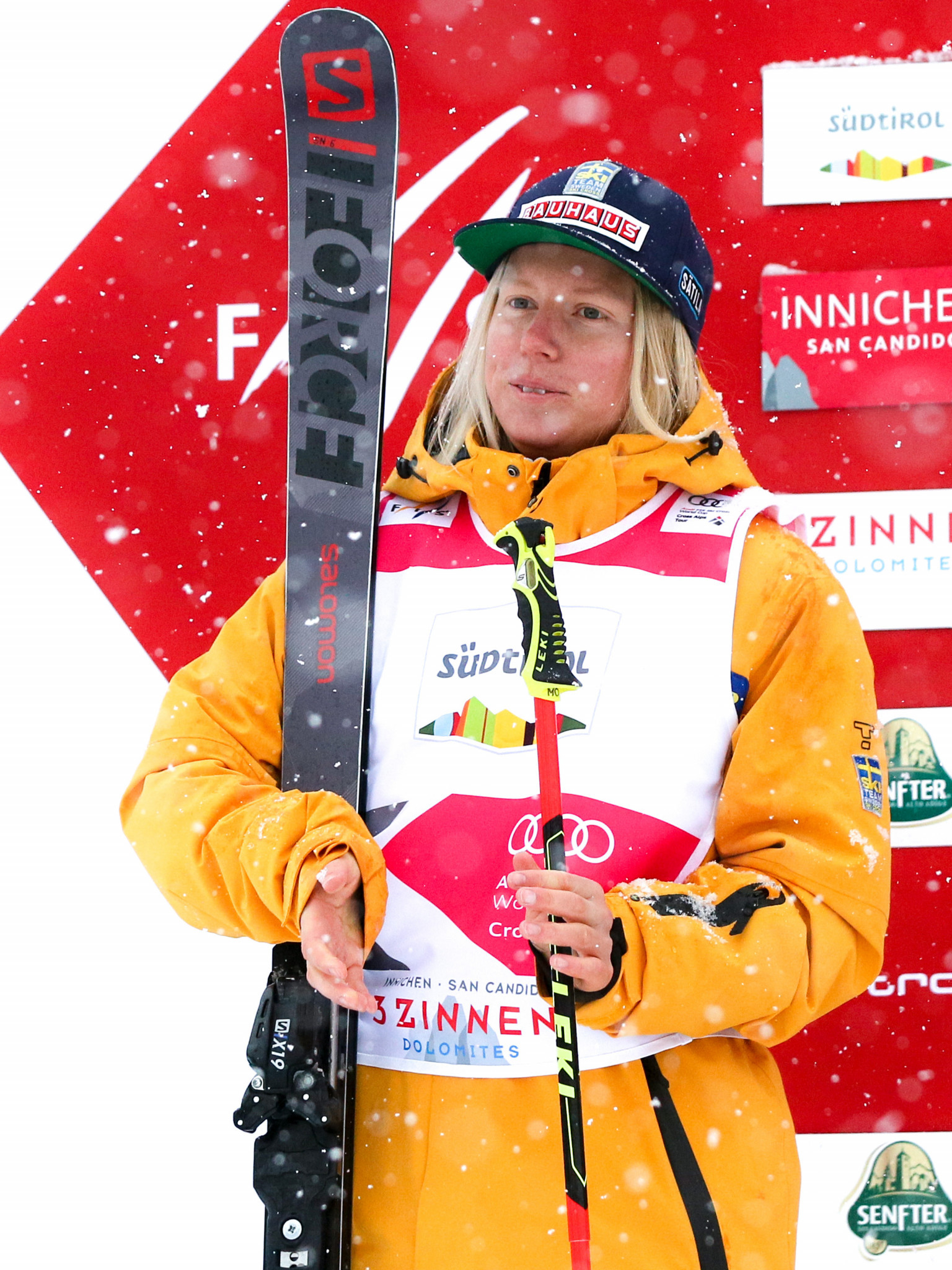 Sweden's Sandra Näslund secured a third successive overall title today in the FIS Freetyle Ski Cross World Cup ©Getty Images