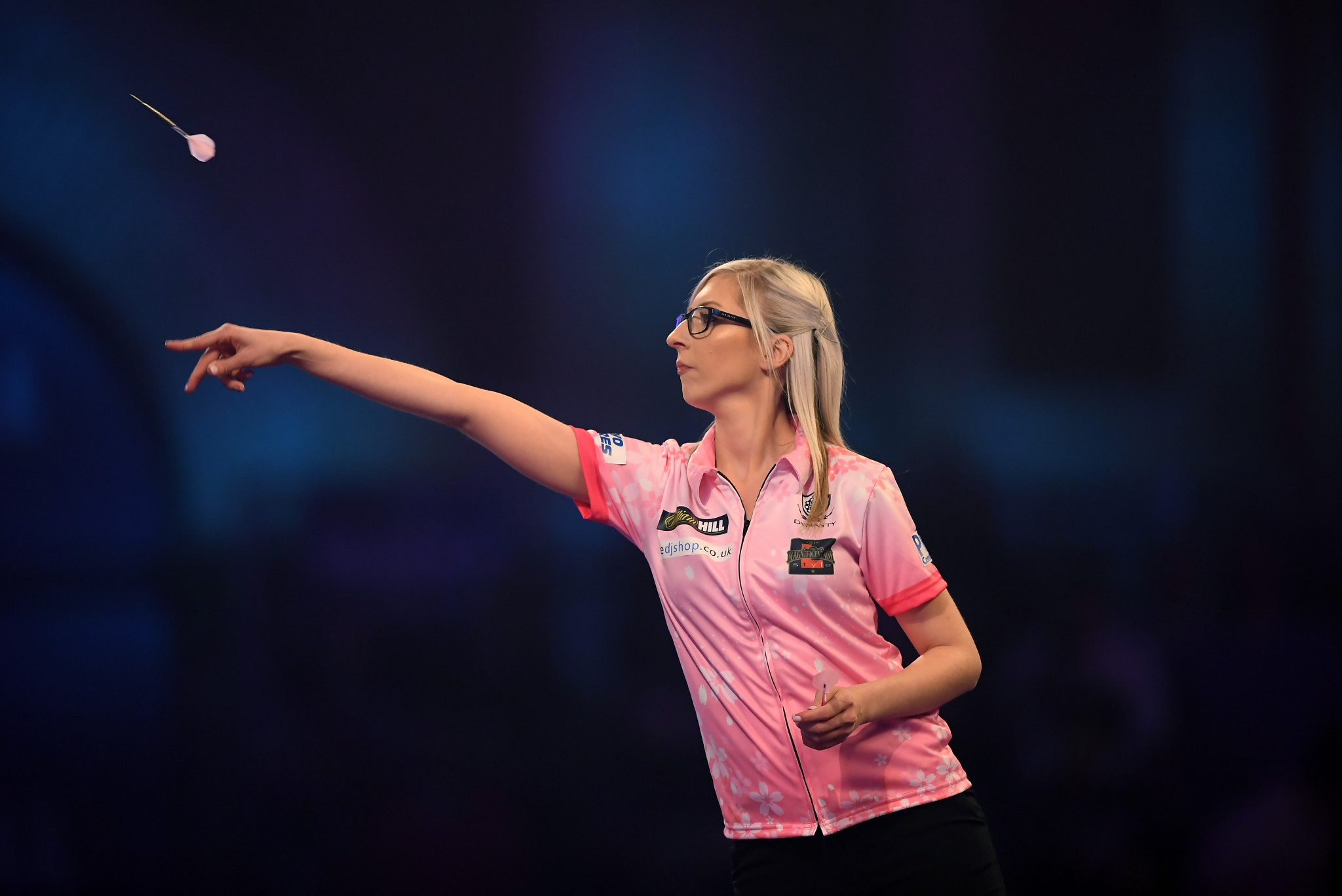 Fallon Sherrock became the first woman to win a match at the World Darts Championships ©Getty Images