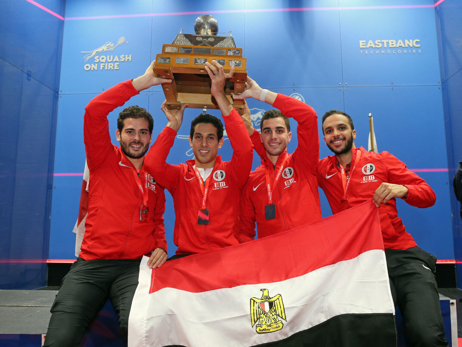 Egypt defended their Men's World Team Squash Championship title ©WSF