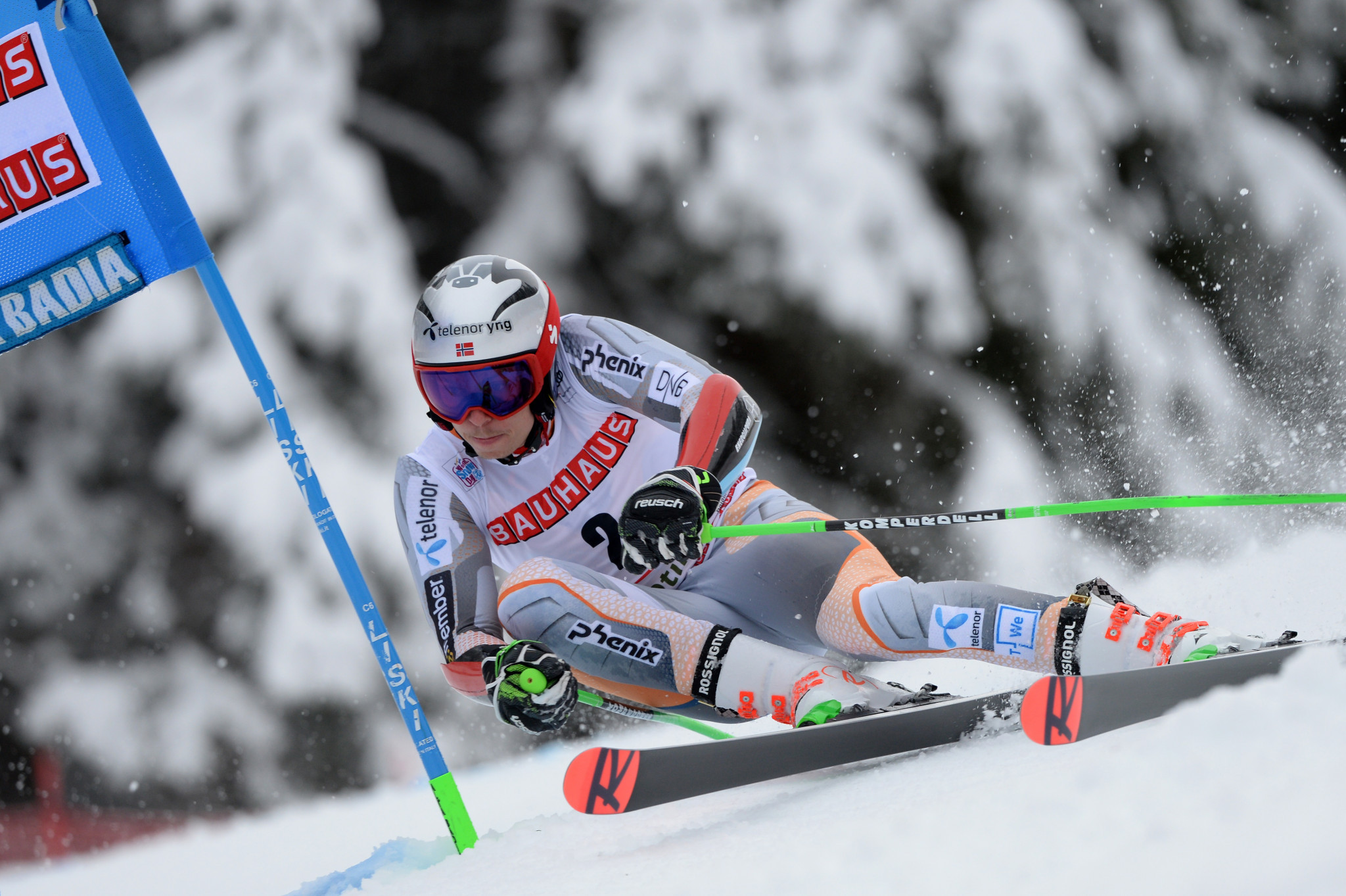 Henrik Kristoffersen leads the overall standings after his victory at Alta Badia ©Getty Images