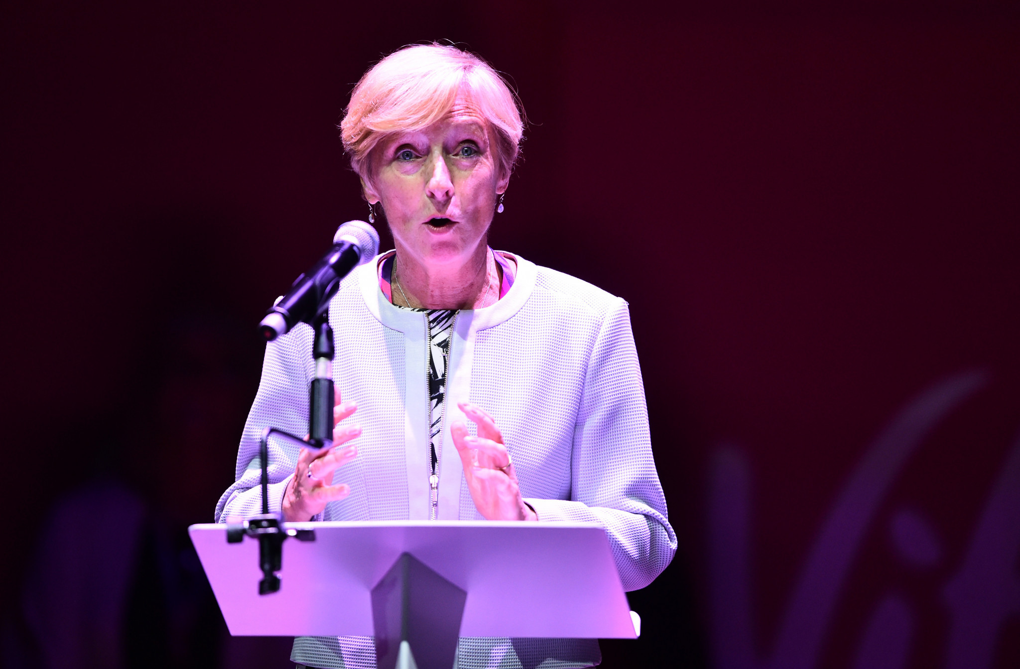 Liz Nicholl was elected President of the International Netball Federation earlier this year ©Getty Images
