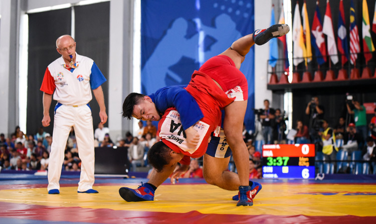 Sambo featured on the Southeast Asian Games' sport programme for the first time this year ©FIAS