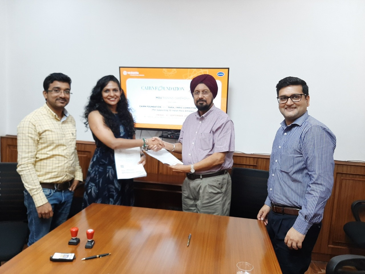 Paralympic Committee of India signs MoU with Cairn Foundation