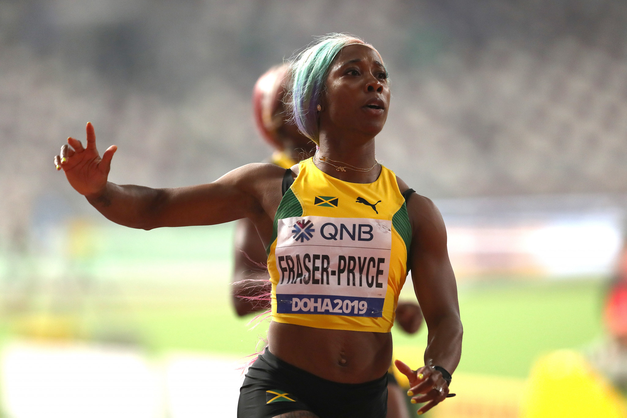 Jamaica's world 100m champion Shelly-Ann Fraser-Pryce plans to seek to double at 100 and 200 metres at Tokyo 2020, she has revealed ©Getty Images