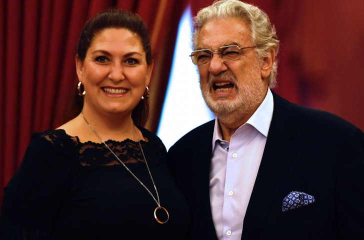 Anna Pirozzi, pictured with Placido Domingo, will be one of the stars of the latest show to be announced as part of the Tokyo 2020 Nippon Festival - Domingo has withdrawn after being accused of sexual assualt ©Tokyo 2020