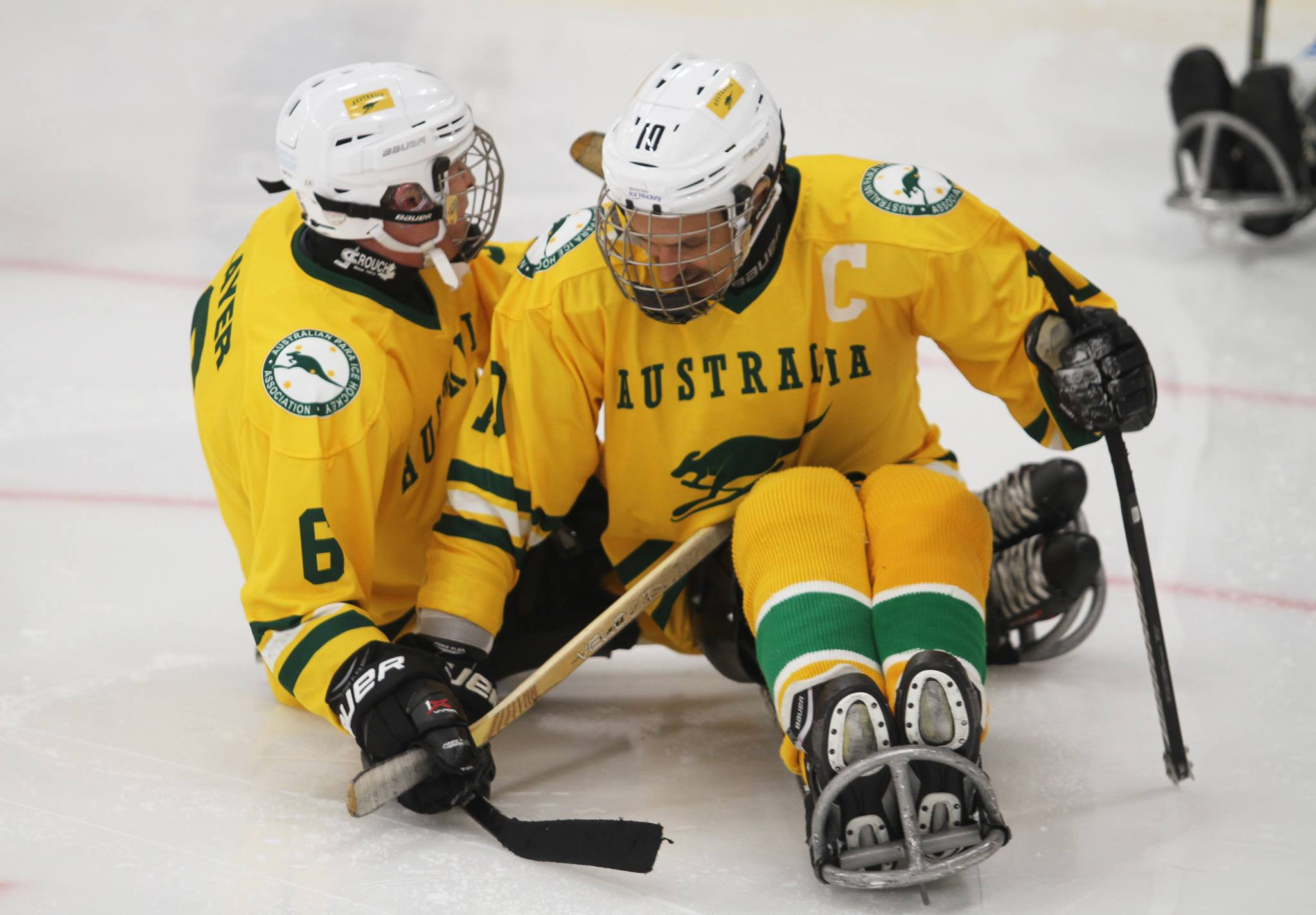 The Para-IceRoos made their international debut at the 2018 World Para-ice Hockey Championships C-Pool in Finland and won a bronze medal - now they want to qualify for Beijing 2022 ©APIHA