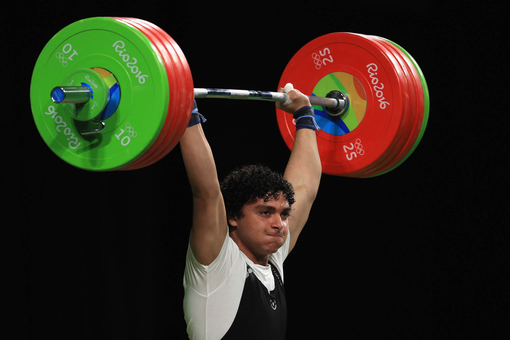 Fares Elbakh of Qatar won the 96kg competition at his home event ©Getty Images